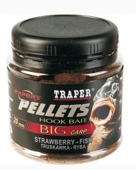 Traper - Hook Pellets Jahoda 100g 12mm