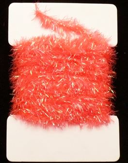 Super Krystal  Chenille 15 mm Fluo Red 1m