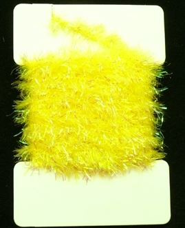 Super Krystal  Chenille 15 mm Fluo Yellow 1m