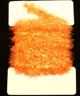 Super Krystal  Chenille 15 mm Orange 1m