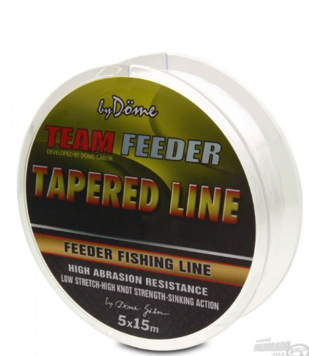 BY DÖME TEAM FEEDER TAPERED LINE 5X15 M 0.18-0.25 MM