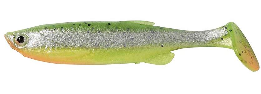 RIPPER SAVAGE GEAR FAT T-TAIL MINT-Tail MNNOW GREEN PEARL SILVER 9CM/7G