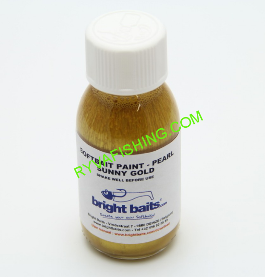 BRIGHT BAITS-SOFTBAIT PAINT PEARL SUNNY GOLD 30ML.