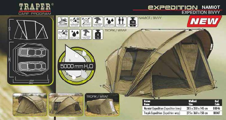 Traper - Bivak Expedition 285x350x145 - novinka 2014