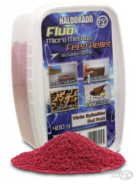 HALDORÁDÓ FLUO MICRO METHOD FEED PELLET - RED FRUIT