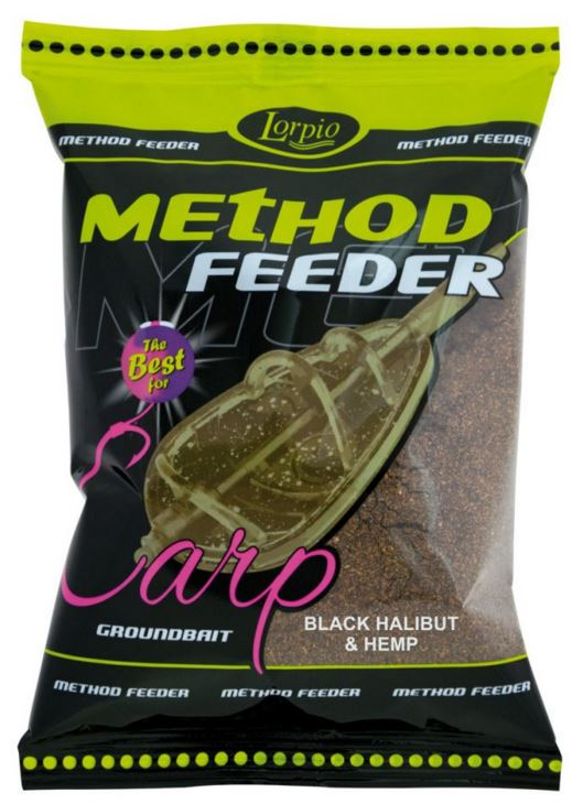 Lorpio-Method feeder black halibut - hemp 700g