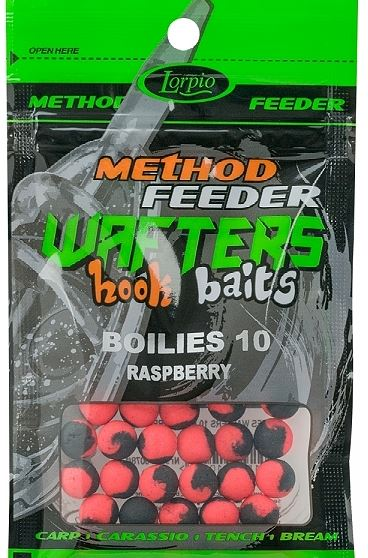LORPIO-WAFTERS HOOK BAITS  BOILIES  RASPBERRY 10