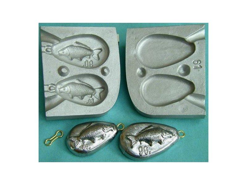 Форма для литья рыболовных грузил своими руками