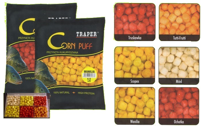 Traper-Corn puff Jahoda  8mm